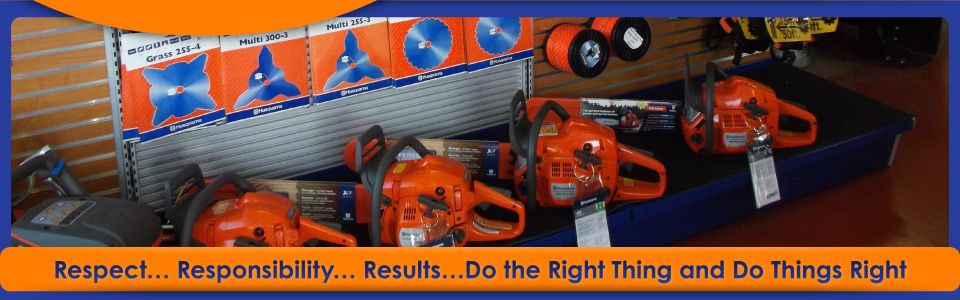 Respect… Responsibility… Results…Do the Right Thing and Do Things Right | Chainsaw Display